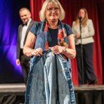 Fashion Show - Blue Dress with Denim Jacket
