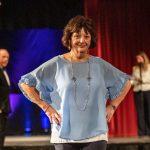 Fashion Show - Light Blue Ruffle Sleeve Top