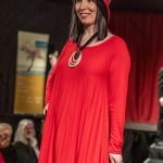 Fashion Show - Pleated Red Dress