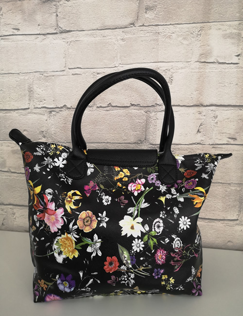 Milan Fashion - Floral Tote Bag - Back