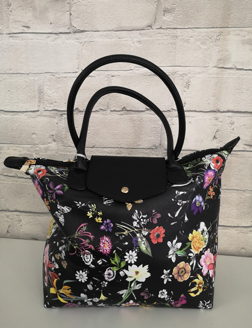 Milan Fashion - Floral Tote Bag - Front