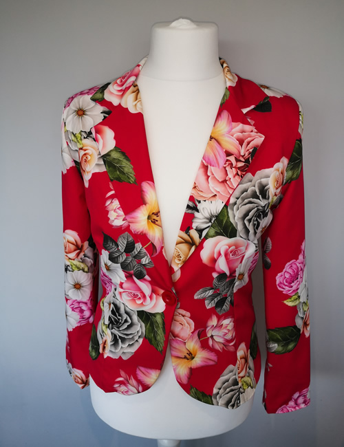 Moda - Fuchsia Floral Jacket