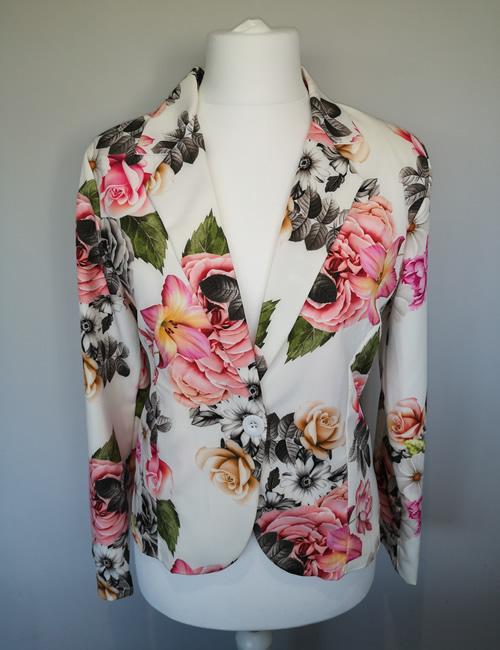Moda - Ivory Floral Jacket