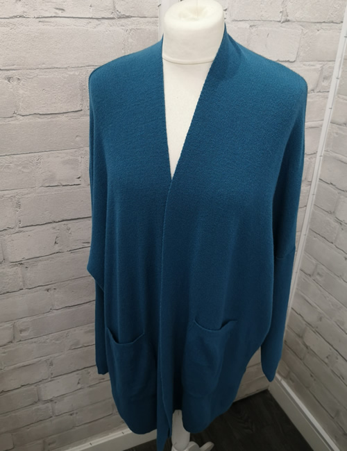 My Story - Long Cardigan - Turquoise