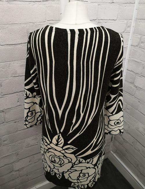 Solo - Rose Dress - Black & Cream - Back