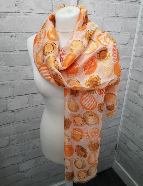 Toskatok Scarf - Orange Circles