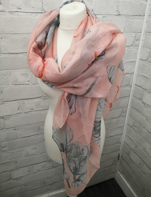 Toskatok Scarf - Pink Floral