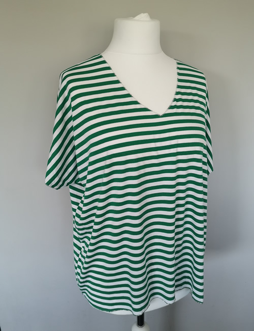 Made In Italy - Striped Top - Green