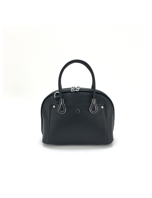 Moda - Small Shell Crossbody Bag - Black - Front