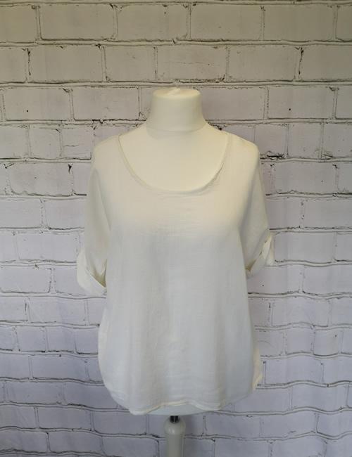 Colette - Linen Top - White