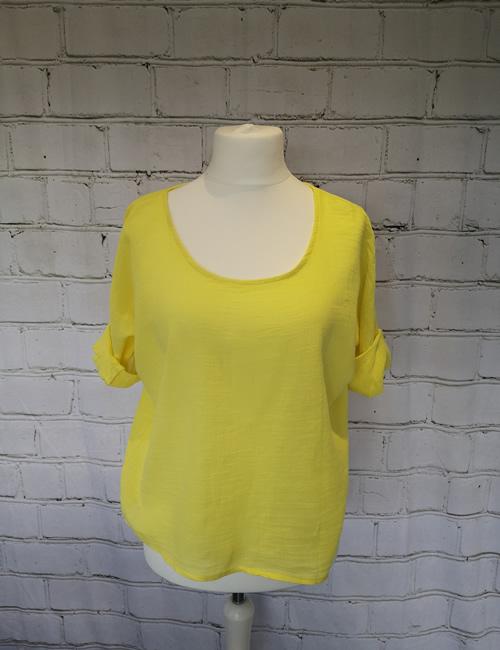 Colette - Linen Top - Yellow