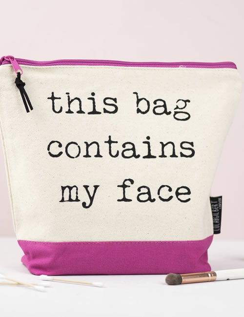 Lola & Gilbert-Contains my face Washbag