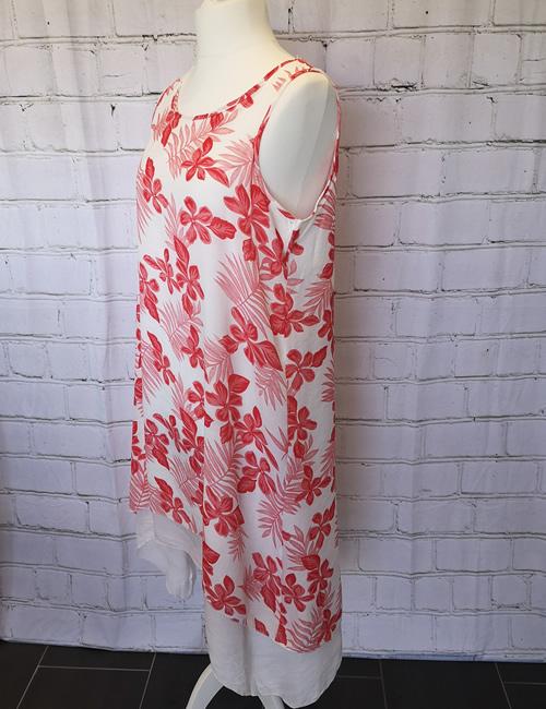 Nova - Tiered Dress - Red -Side