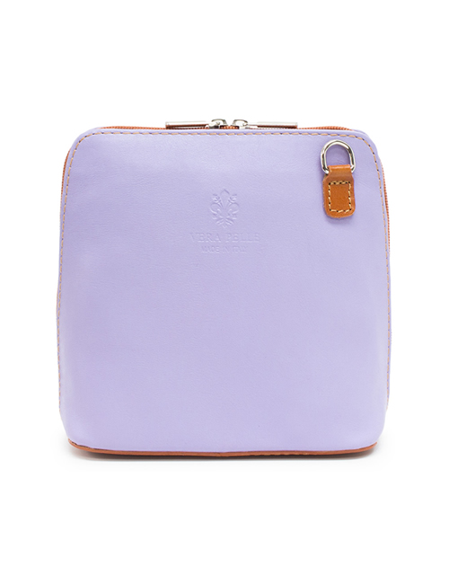Moda - Leather Crossbody Sauvage - Lilac