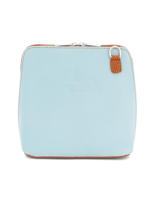 Moda - Leather Crossbody Sauvage - Pale Blue