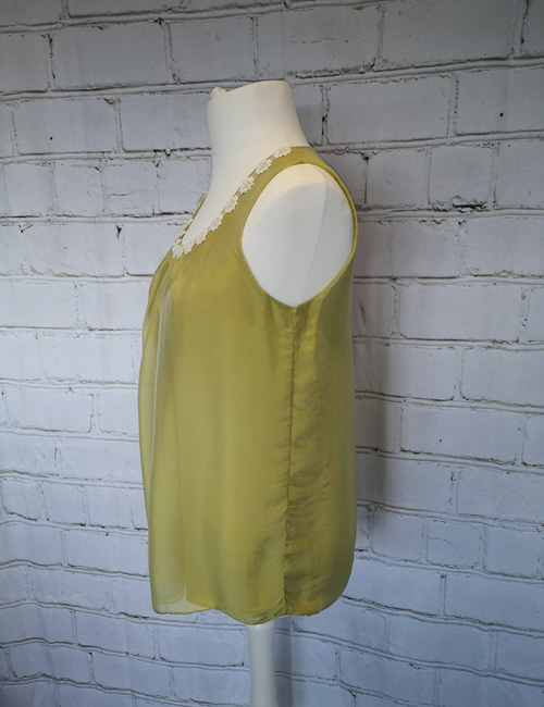 My Story - Daisy Neck Vest - Pistachio Green - Side