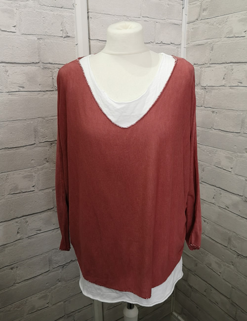 Made In Italy - Layered Top - Rust