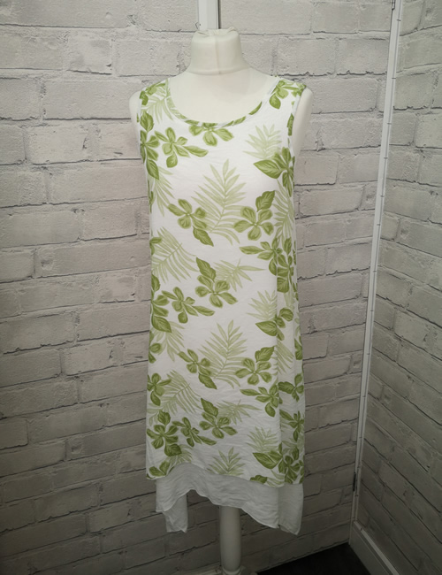 Nova - Tiered Dress - Lime Green