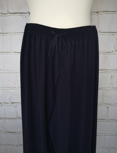 Soul Collection - Navy Blue Straight Legged Trousers - Close-up