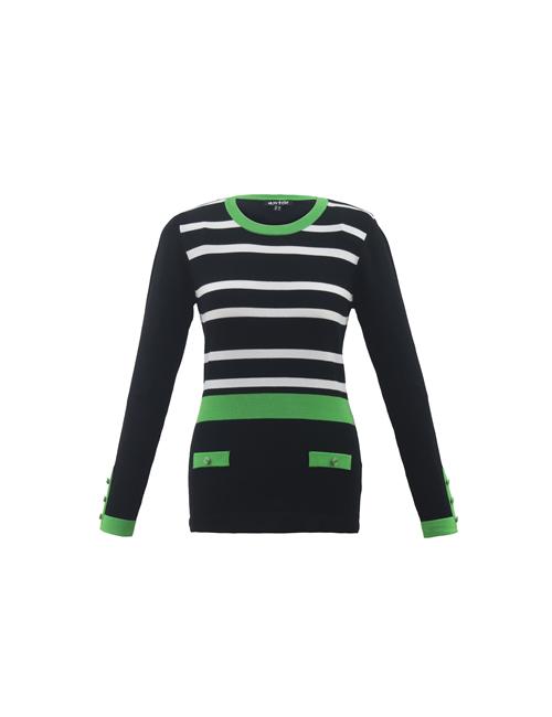 Marble - 6326 - Stripe Jumper - Green