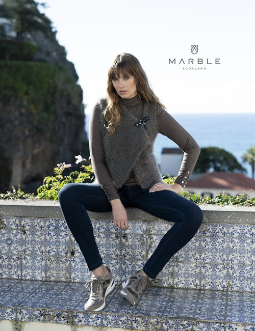 Marble - Brown Cardigan - 5845-159