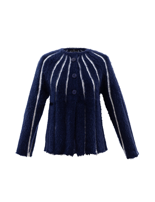 Marble - Navy Blue Striped Cardigan - 5848-103