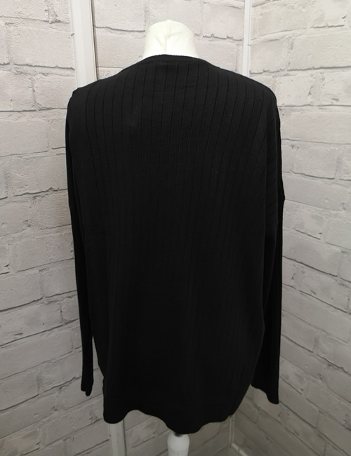 C.M.D.55 Collection - 4 Button Jumper - Black - Back