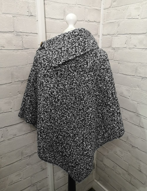 LVE - 3 Button Poncho - Back