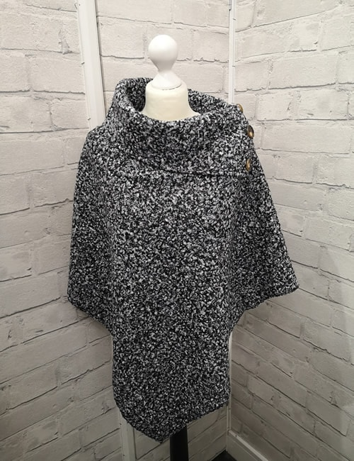 LVE - 3 Button Poncho - Front