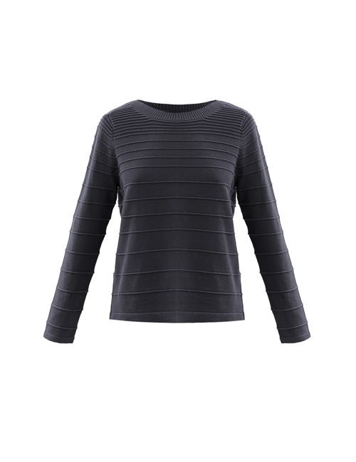 Marble - Ribbed Jumper - Charcoal - 5879-105