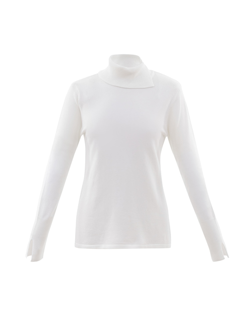 Marble - Roll Neck Jumper - Ivory - 5827-104