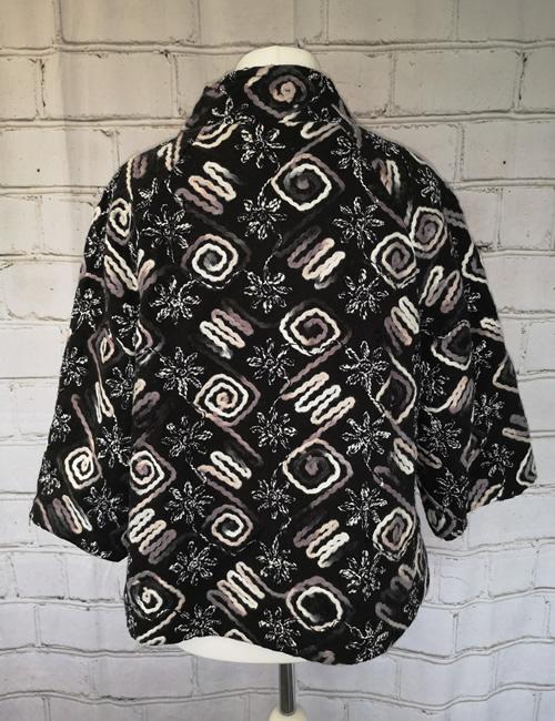 LVE Clothing - Floral Zig Zag Jacket - Back