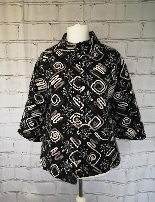 LVE Clothing - Floral Zig Zag Jacket - Front