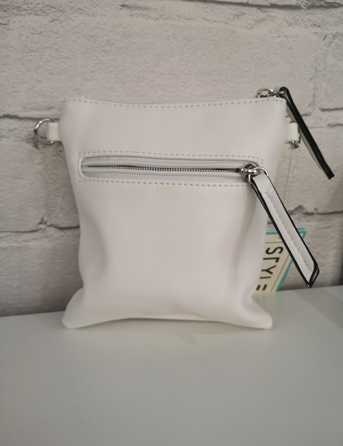 Milan Fashion - Flower Crossbody - White - Back