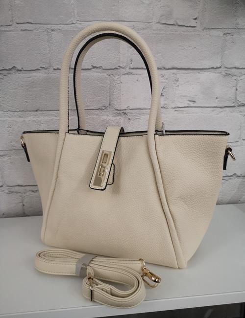 Milan Fashion - Handbag - Cream - With shoulder strap