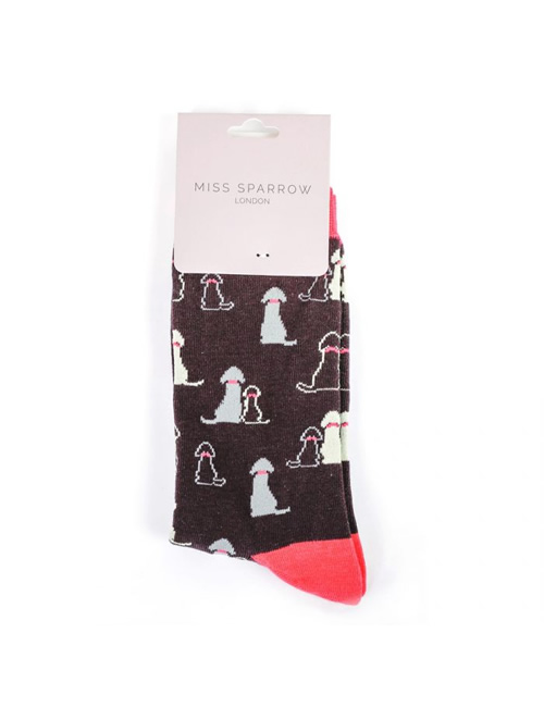Miss Sparrow - Dogs Socks Black