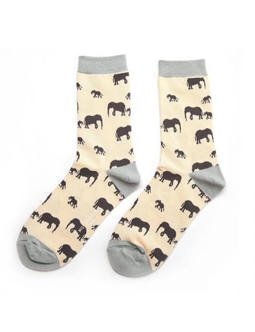 Miss Sparrow - Elephants Socks Cream