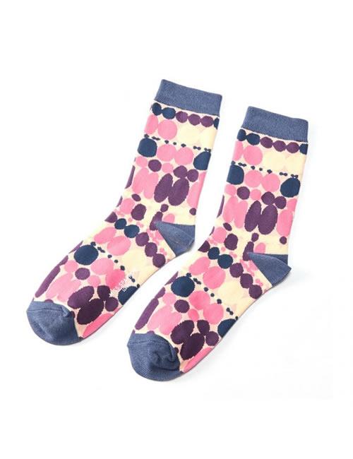 Miss Sparrow - Splodges Socks Dusky Pink