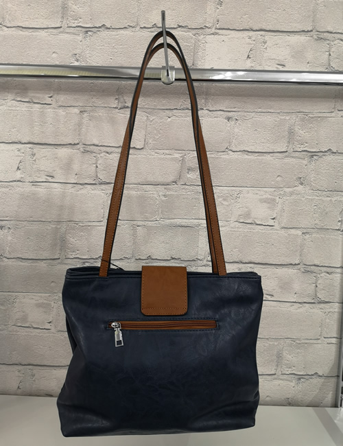 Moda - Handbag - Navy - Back