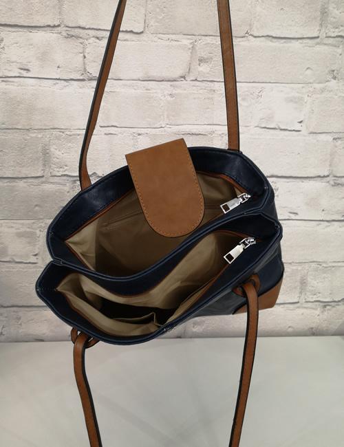 Moda - Handbag - Navy - Inside