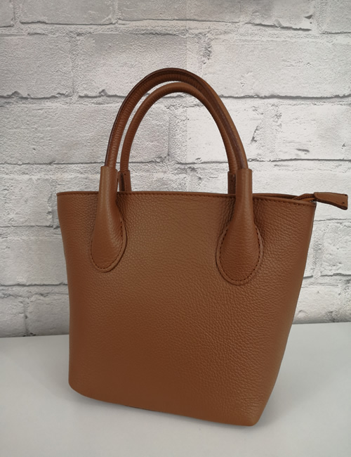 Moda - Leather Grab Bag - Tan