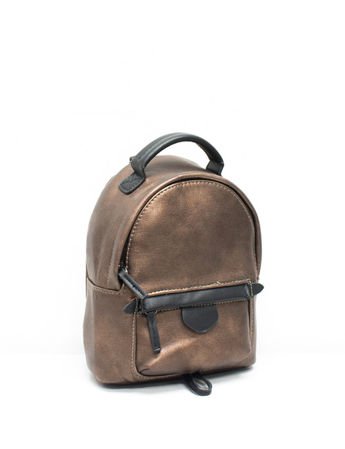 Moda - Mini Backpack - Bronze - Side