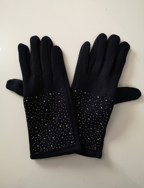 Moda - Sparkly Gloves - Navy Blue