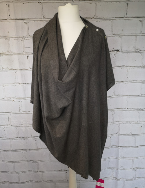 Multi Colour Wrap - Charcoal Grey