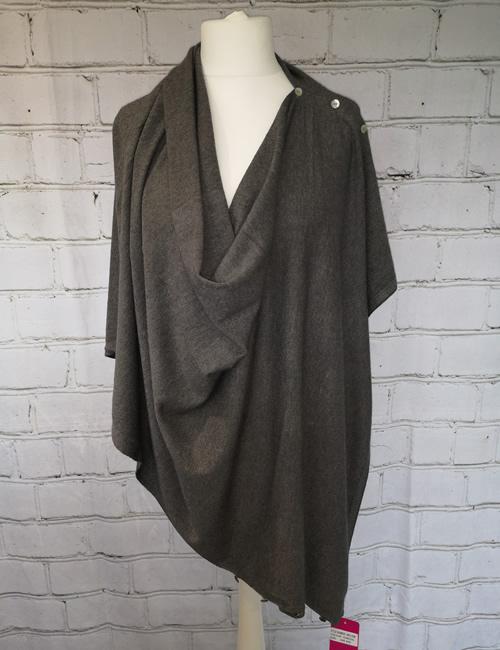 Multi Colour Wrap - Charcoal Grey