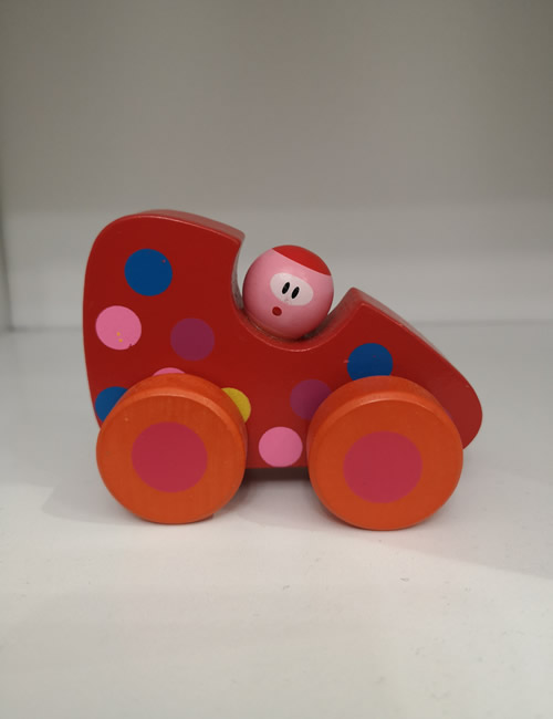 Red Wooden Racing Car
