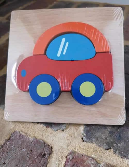 Wooden Puzzle - Car