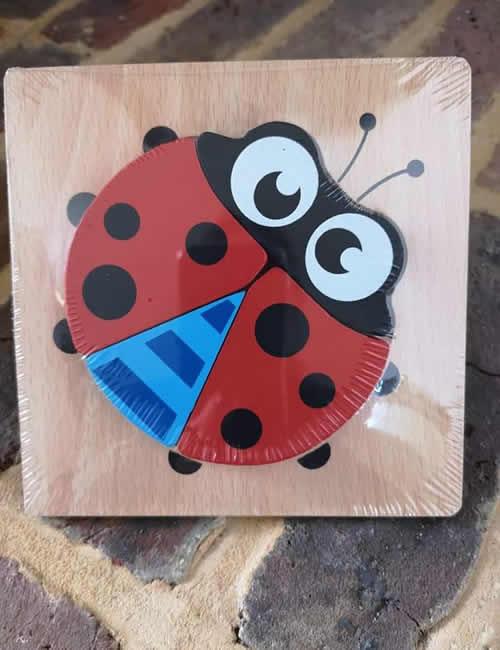Wooden Puzzle - Ladybird