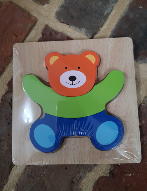 Wooden Puzzle - Teddy