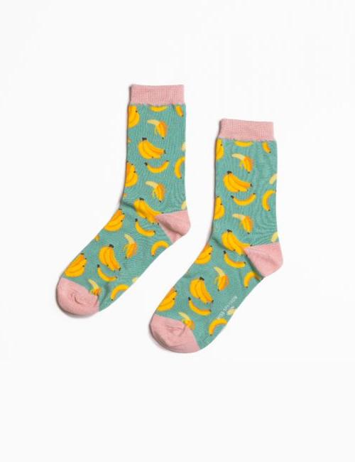 Miss Sparrow - Bananas Socks Turquoise